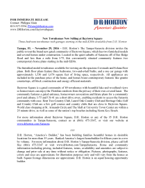 Home-Building-Press-Release-For-D.R. Horton