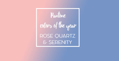 colors of the year rose quartz and serenity