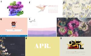april calendar set 1