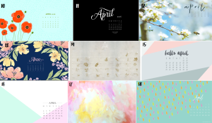 april calendar set 2