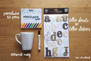 mothers day mug supplies