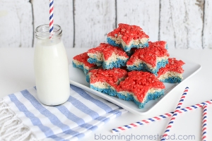 Patriotic-Rice-Krispy-Treats-1by-Blooming-Homestead bloominghomestead