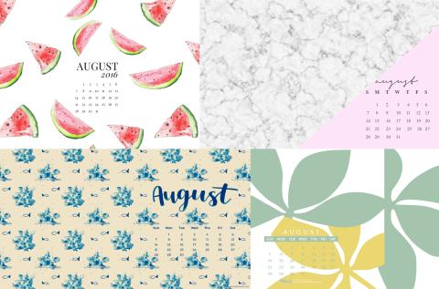 Desktop Wallpapers Calendar August 2016