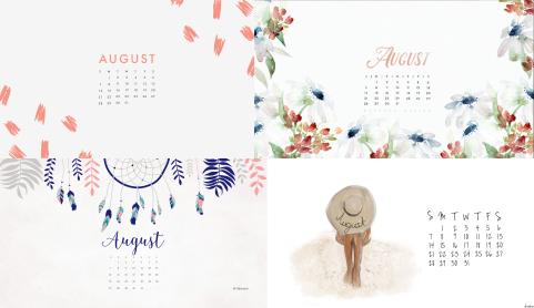 august desktop calendar 2