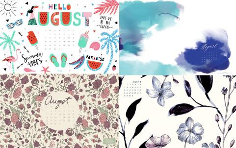 august desktop calendar 3