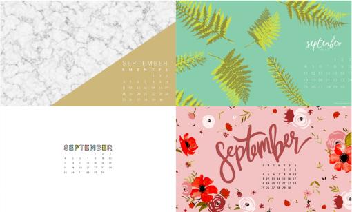 September 2016 Calendar Background 2