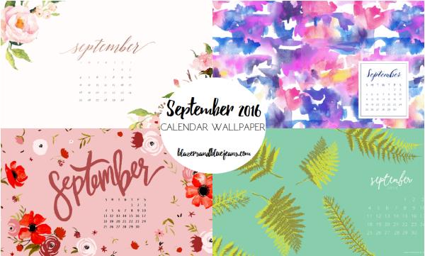 September 2016 Calendar