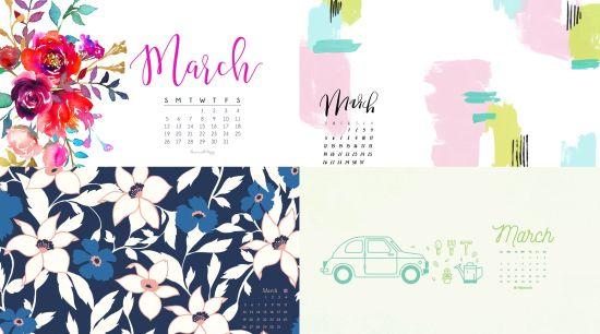Calendar Wallpaper March : March calendar wallpaper