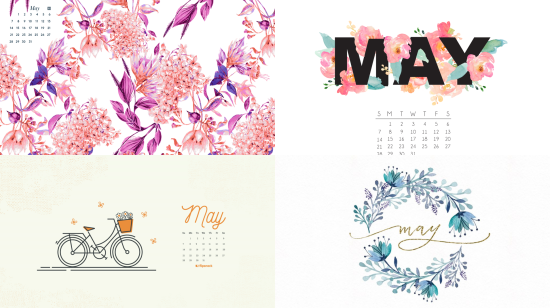 may 2017 computer calendar wallapers