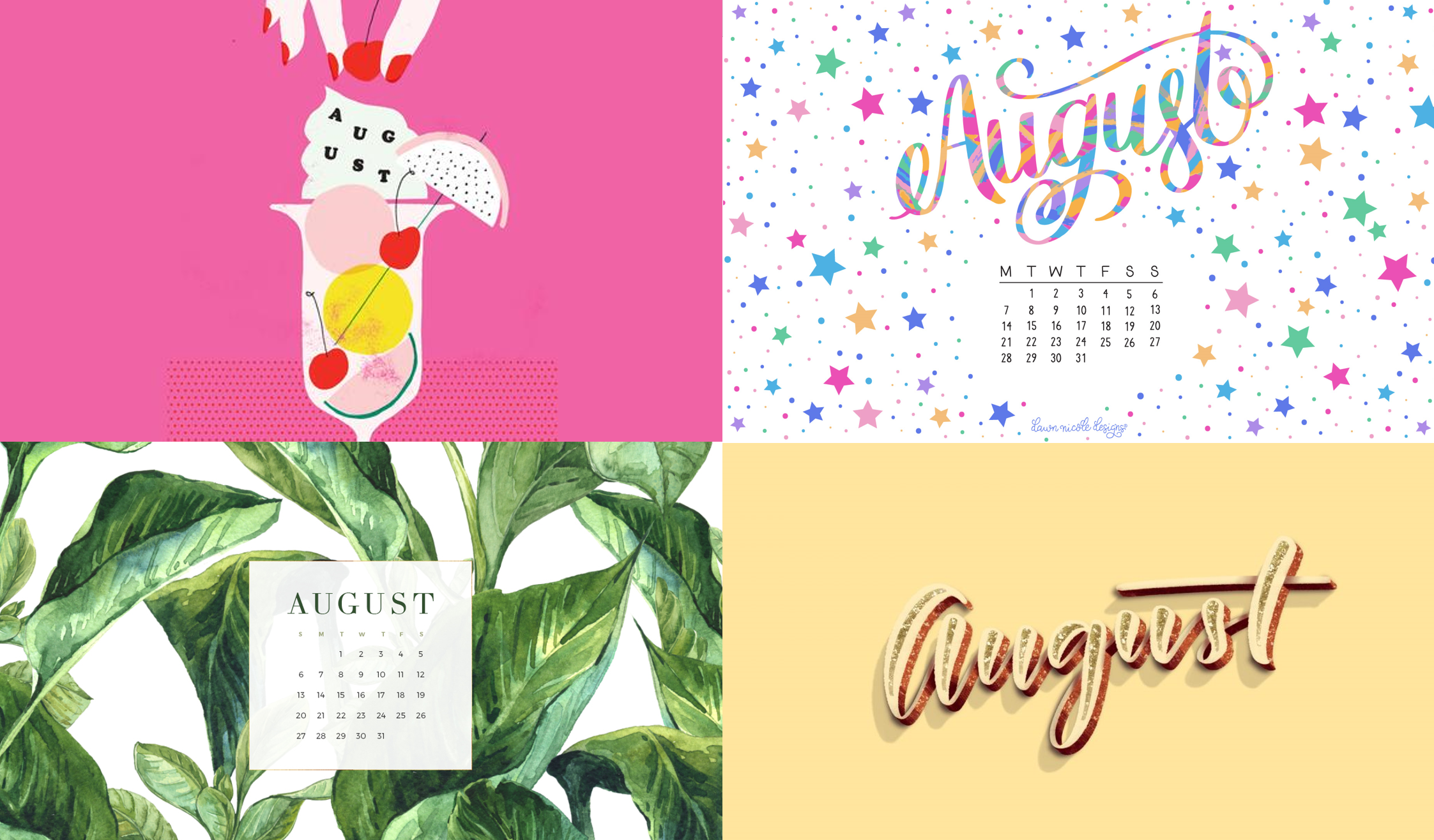 Desktop Calendar Wallpaper With Reminder : August calendar wallpaper roundup blazers and blue