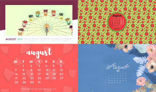 august 2017 calendar wallpapers