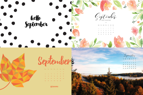 eptember 2017 calendar backgrounds