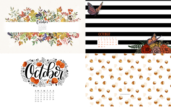 october calendar backgrounds 2