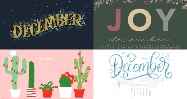 december 2017 calendar backgrounds