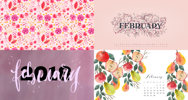 february 2018 calendar backgrounds