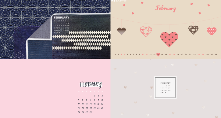 February 2018 Calendar Backgrounds