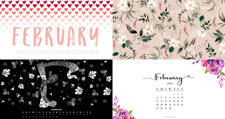 february 2018 calendar wallpapers