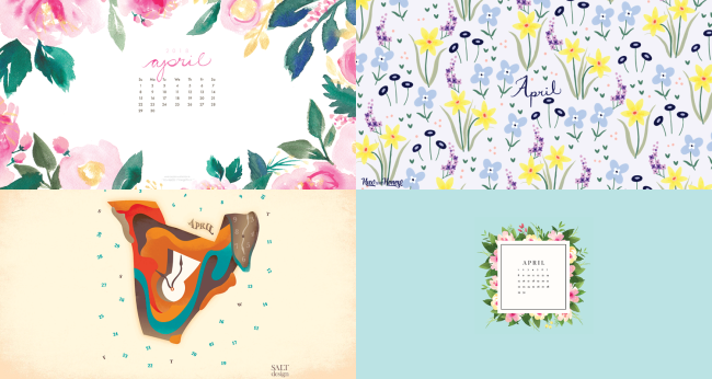april 2018 calendar backgrounds