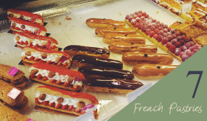 french eclair pastries