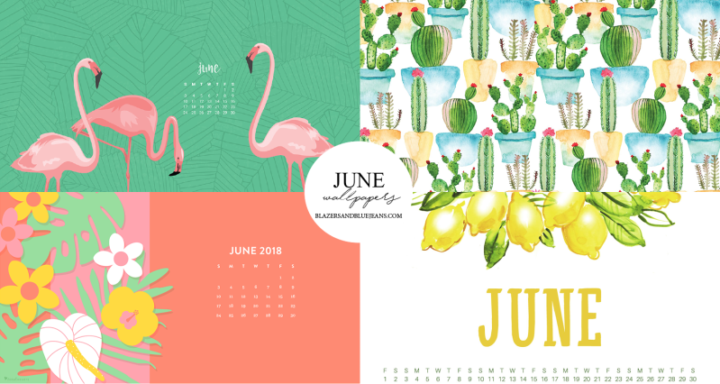 June 2018 calendar backgrounds