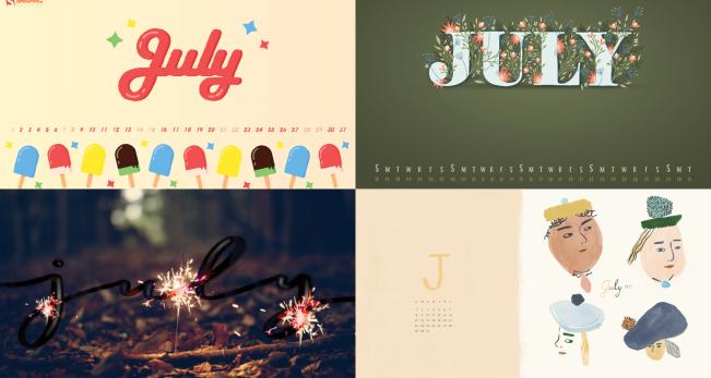 July 2018 Calendar Wallpaper