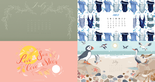 July 2018 Calendar Wallpapers